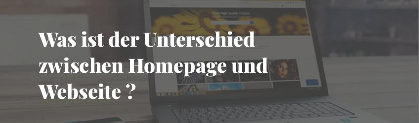Homepage oder Webseite ?