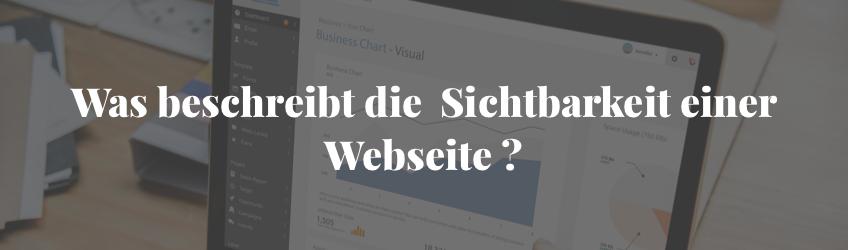 Sichtbarkeit einer Webseite